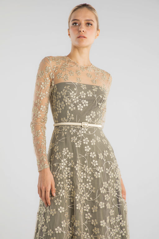 Renee Embroidered Long Sleeve Dress