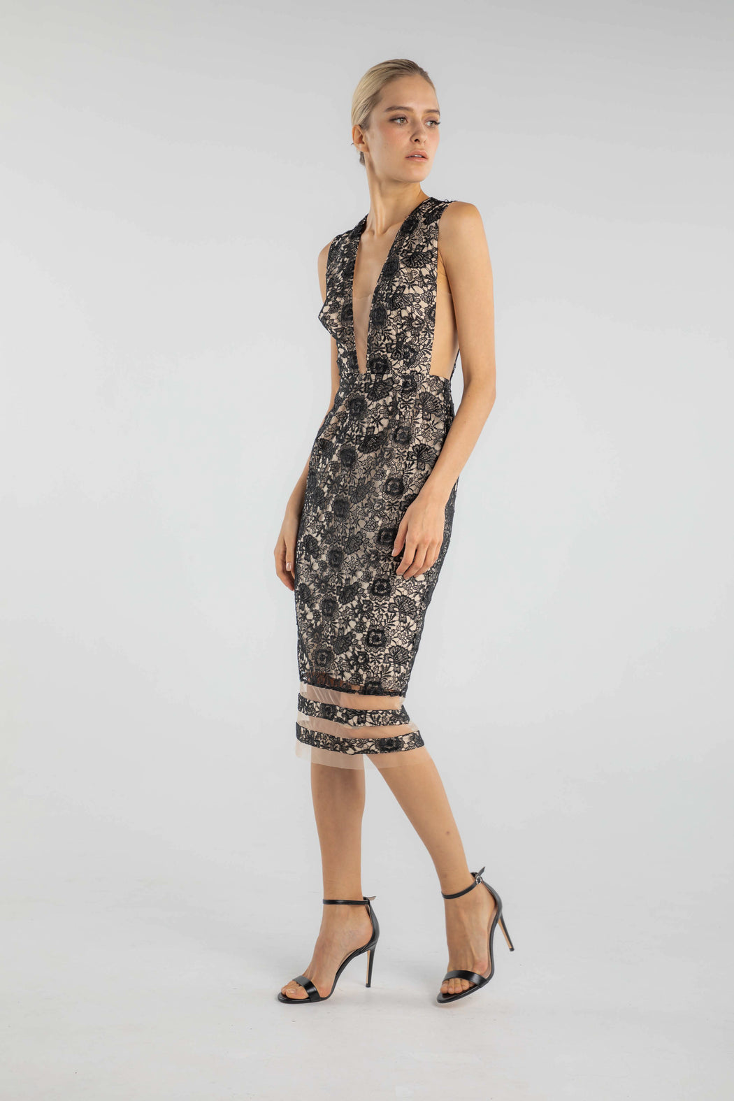 Kendall Floral Lace Dress - SAU LEE