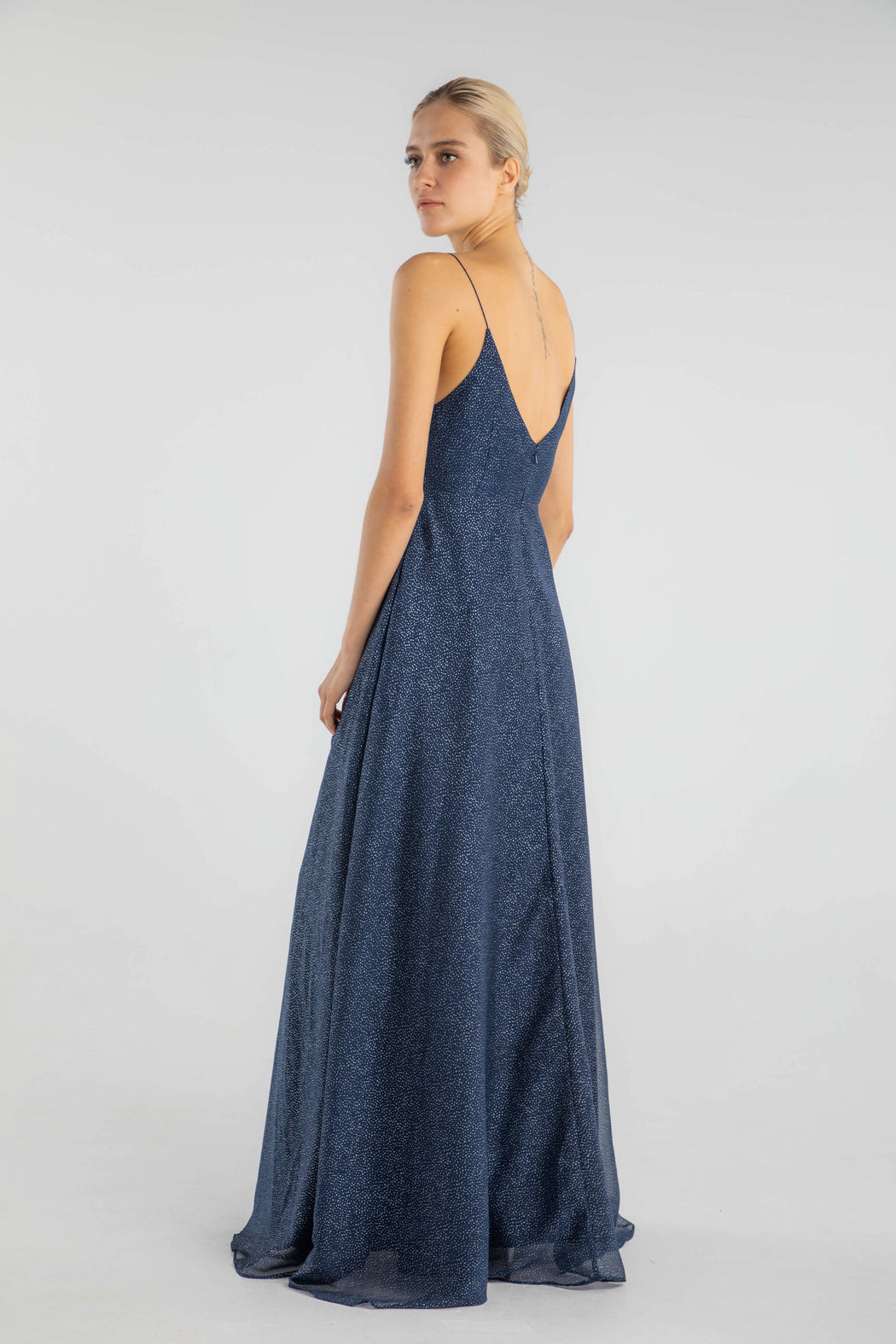 Evelyn Glitter Chiffon Gown