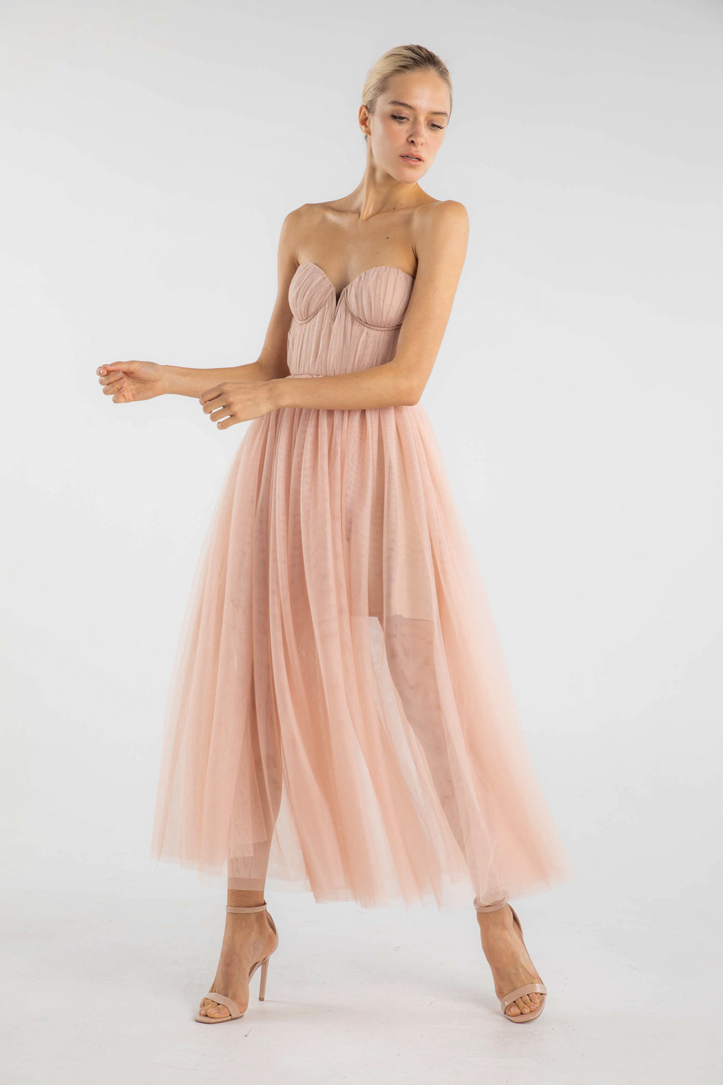 Honore Strapless Tulle Gown