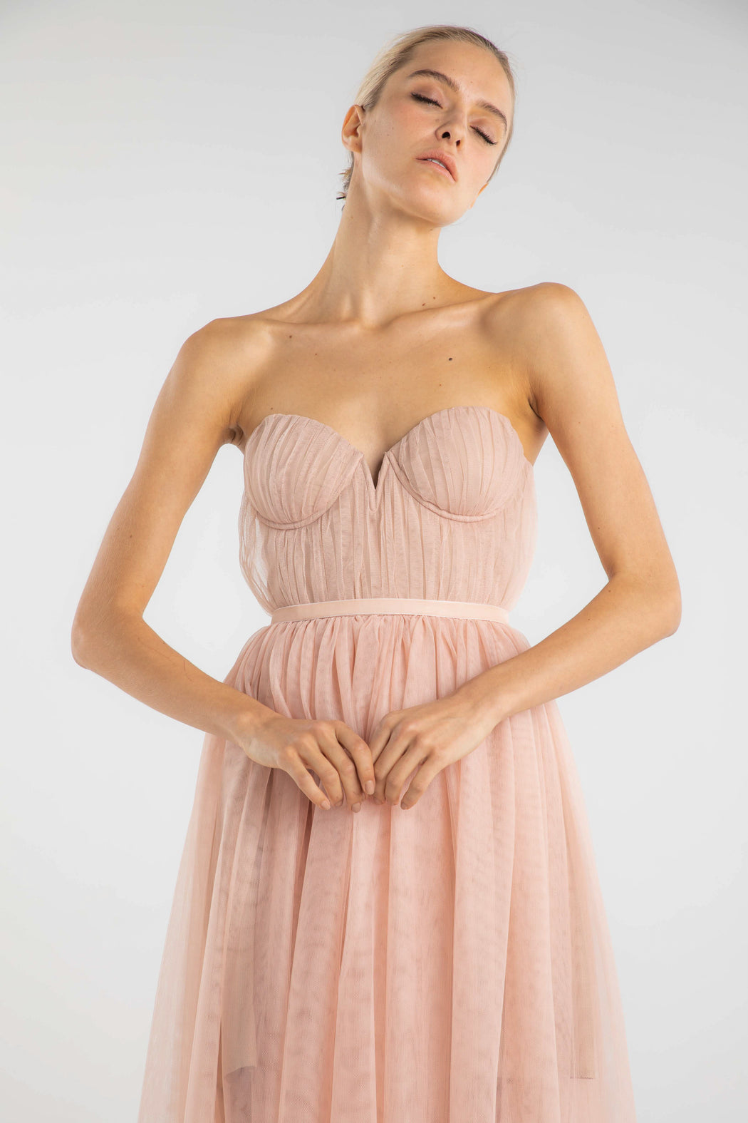 Honore Strapless Tulle Gown - SAU LEE