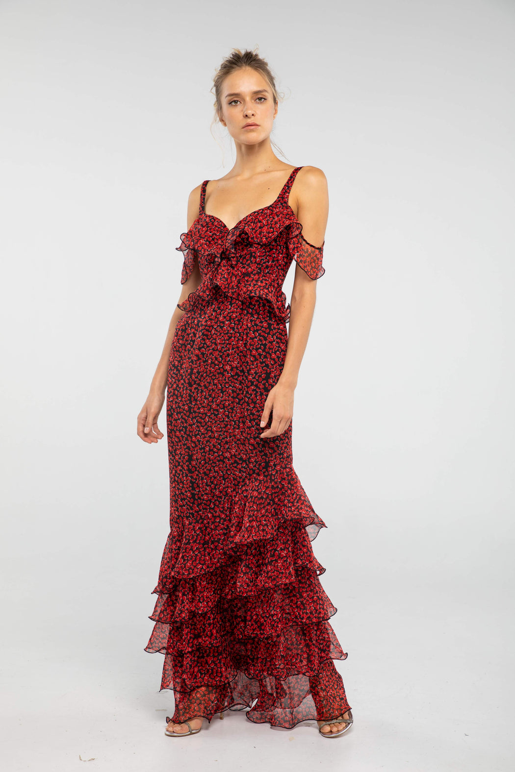 Valentina Poppy Ruffle Gown - SAU LEE