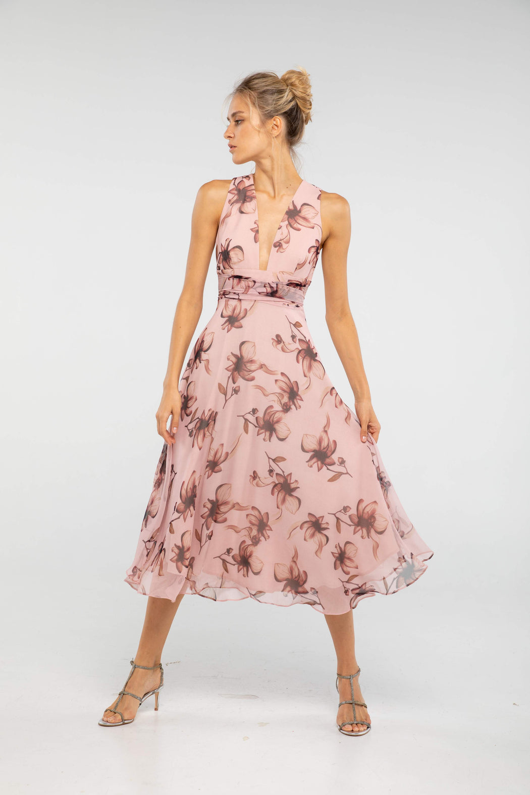 Julia Floral Print Midi Dress - SAU LEE