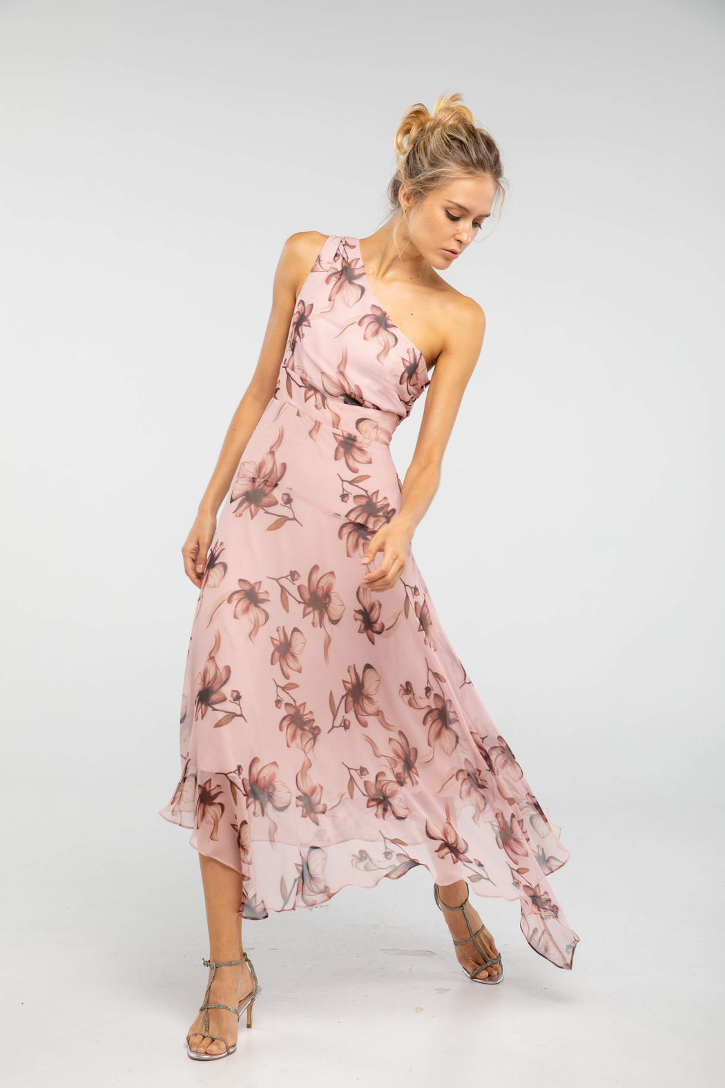 Salome Floral Print Midi Dress - SAU LEE