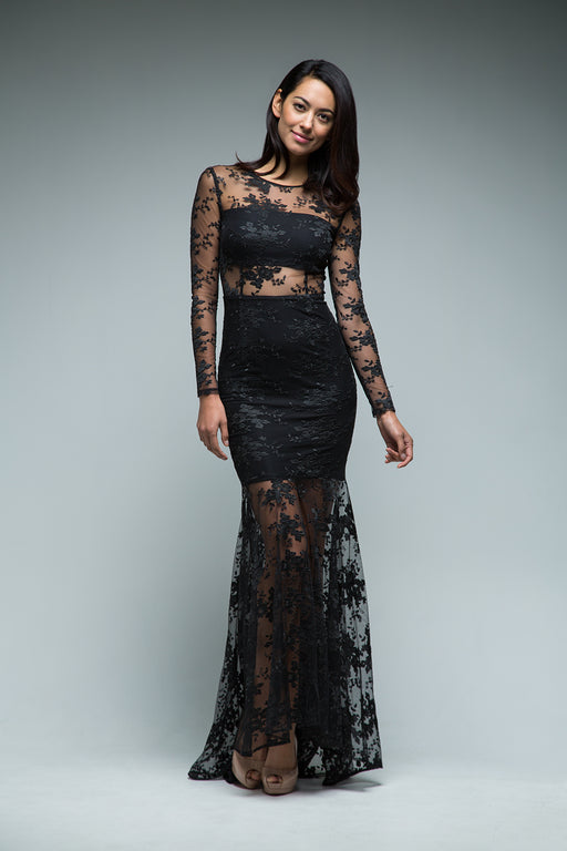 Anya Gown (Black) - SAU LEE