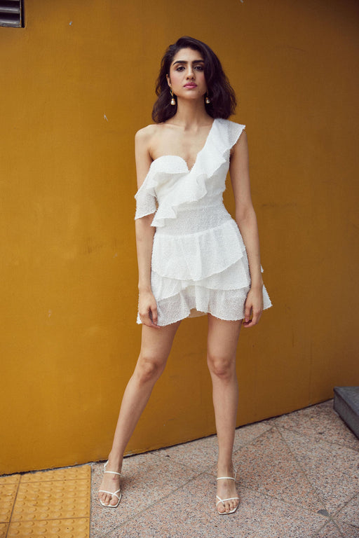 Gia Mini Dress (White) - SAU LEE