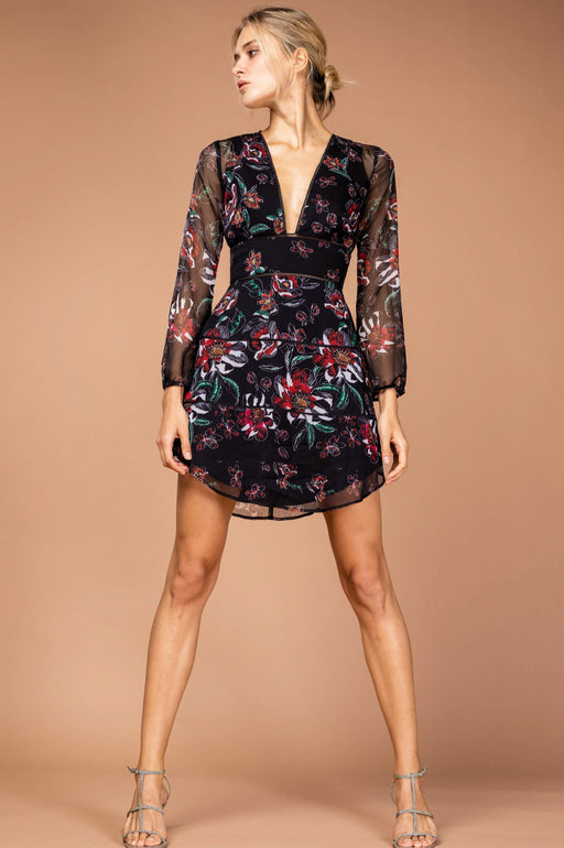 Nola Chiffon Mini Dress - SAU LEE