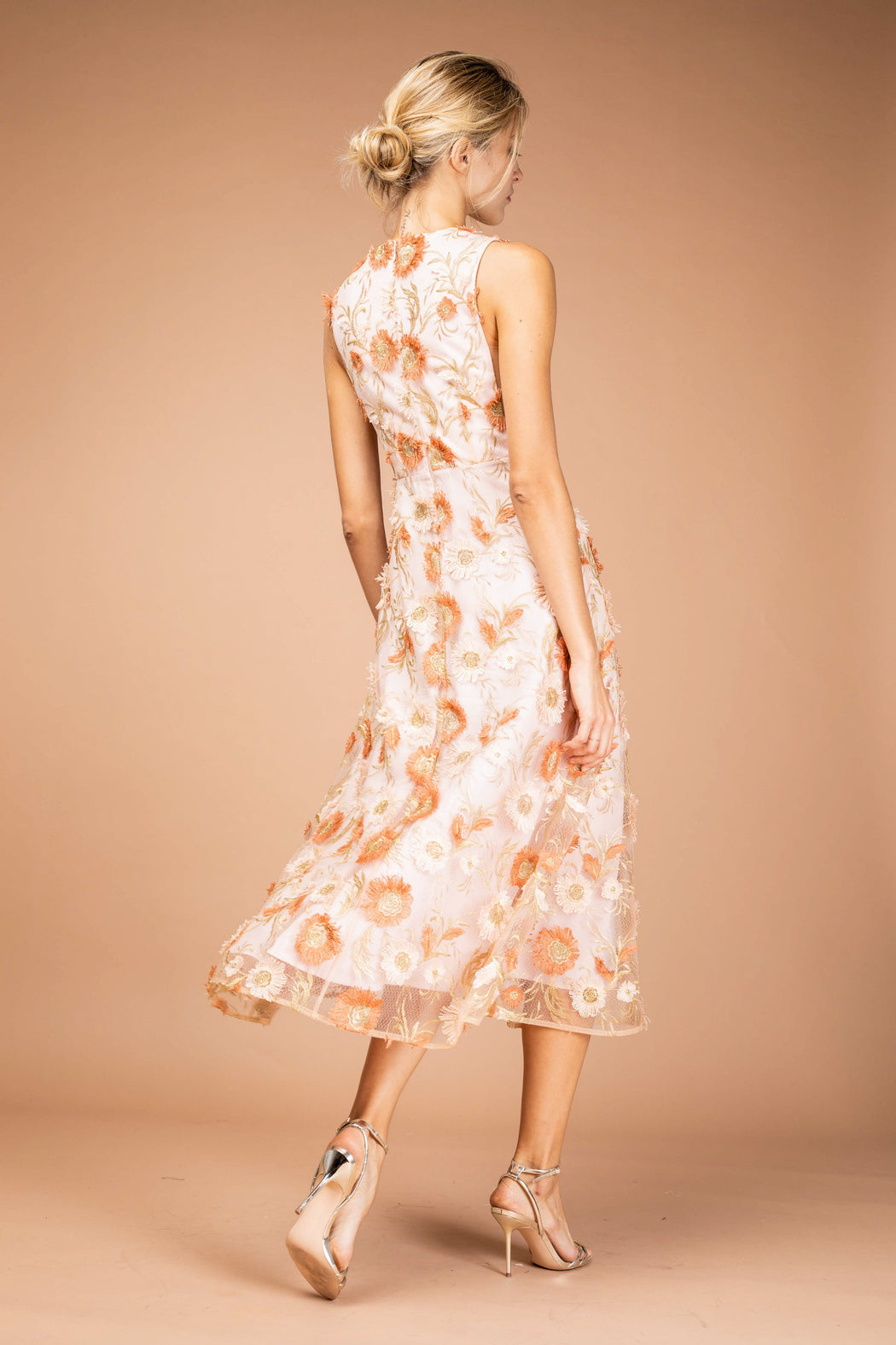 Fiona Floral Midi Dress - SAU LEE