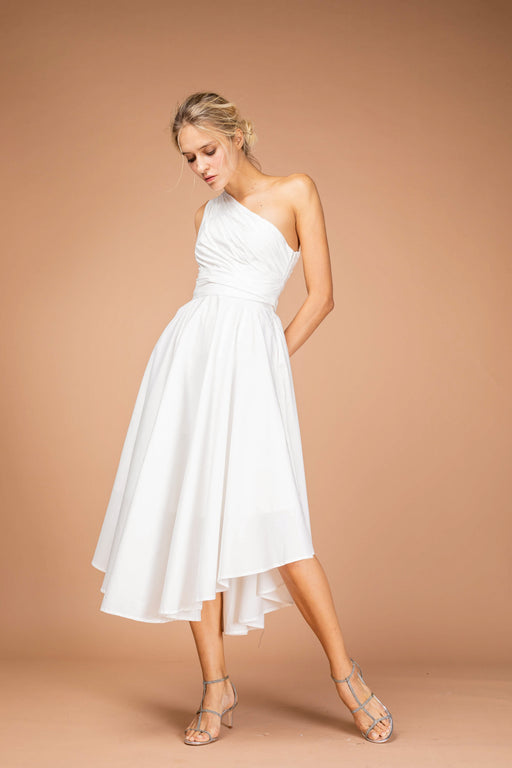 Andrea Cotton Midi Dress (White) - SAU LEE