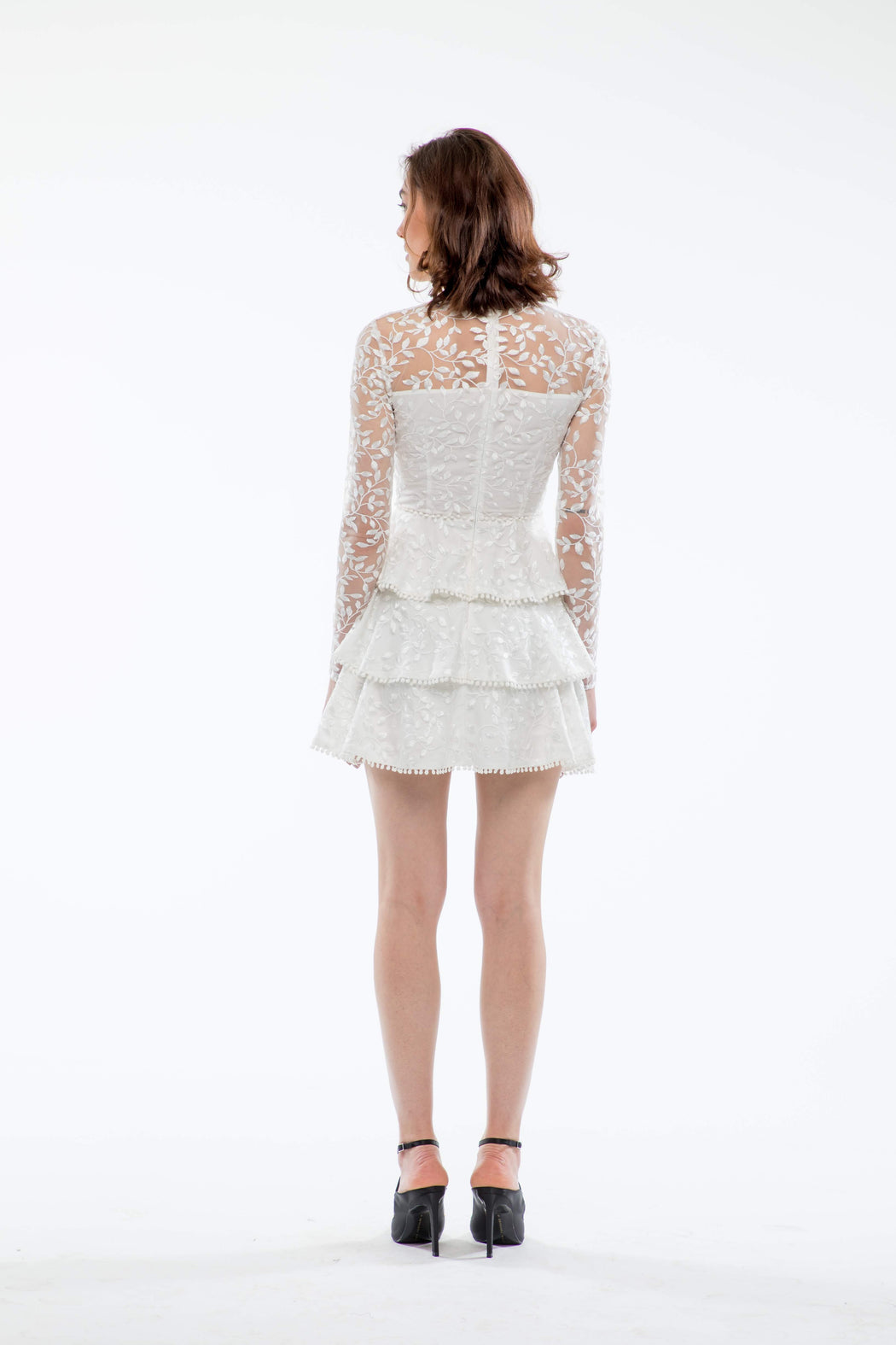 Esther Embroidered Tiered Mini Dress - SAU LEE