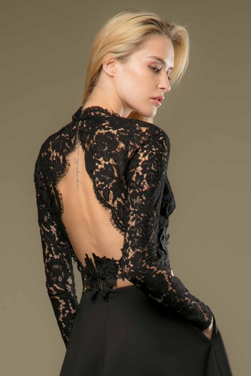 Adalyn Lace Backless Crop Top - SAU LEE
