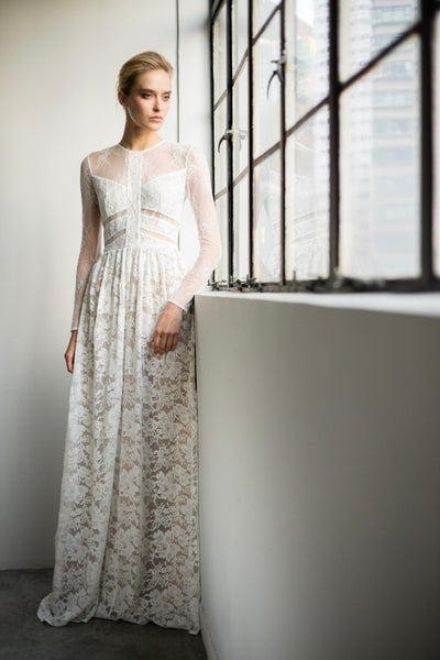 Ashley Romantic Lace Gown - SAU LEE