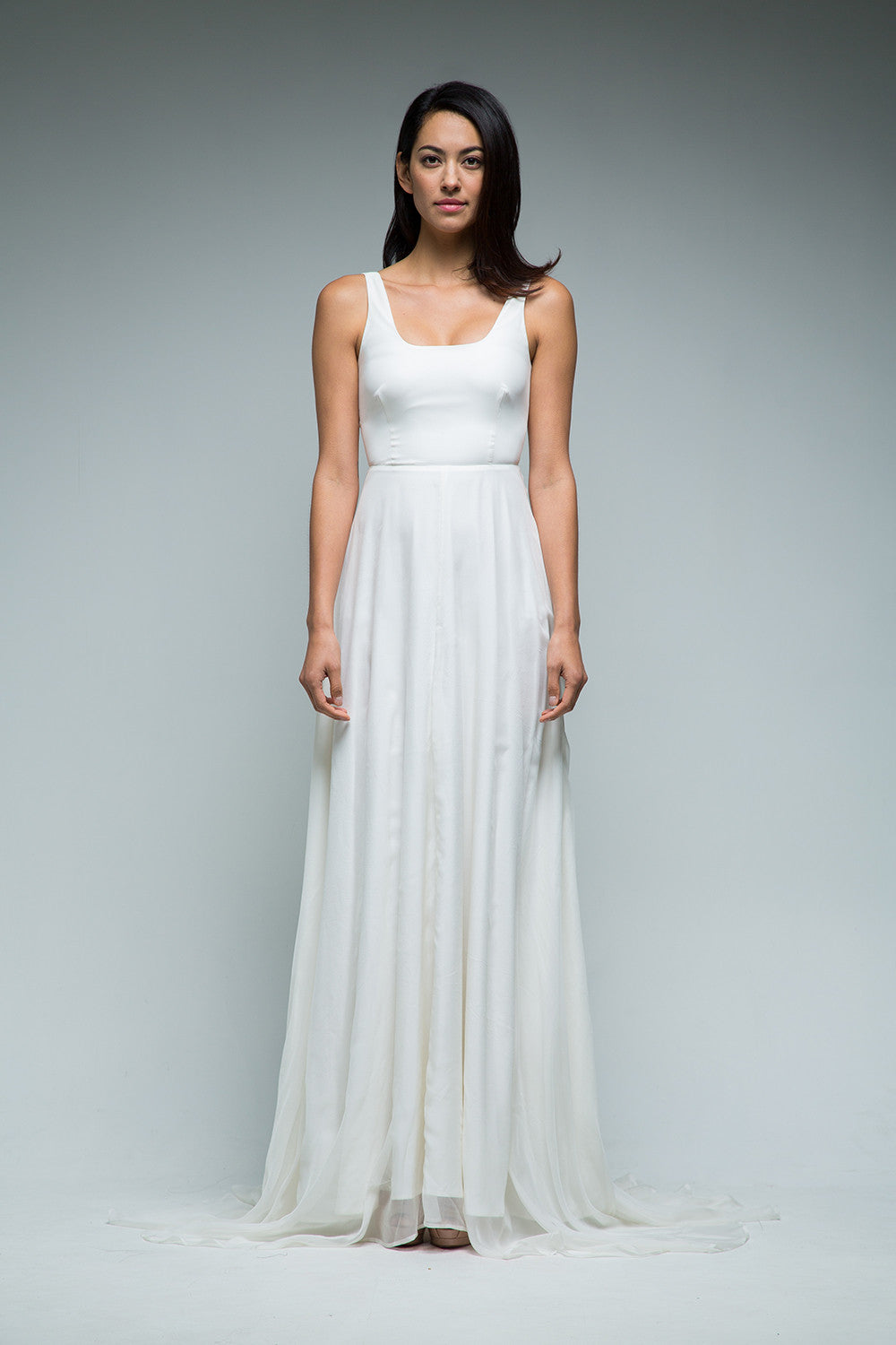 Helena Minimal Silk Gown - SAU LEE
