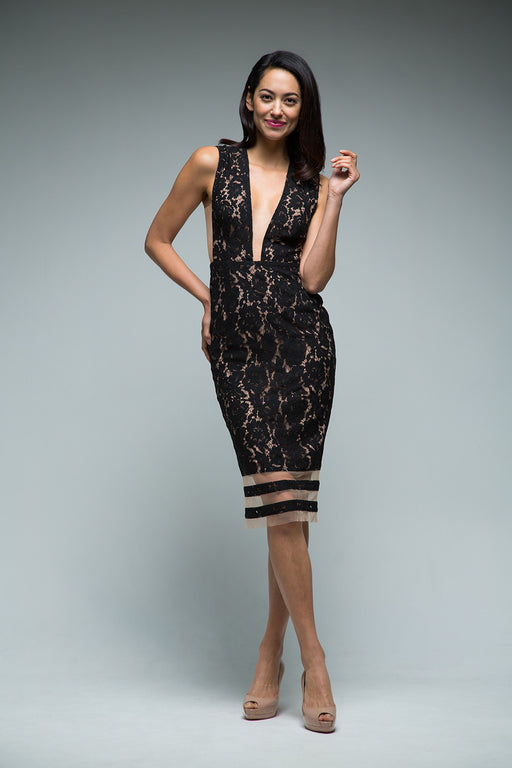 Kendall Dress (Black) - SAU LEE