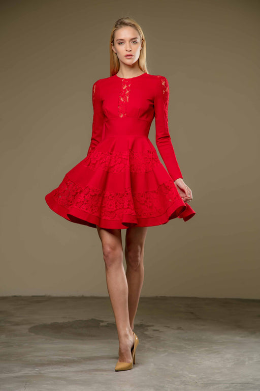 Lela Dress (Red) - SAU LEE