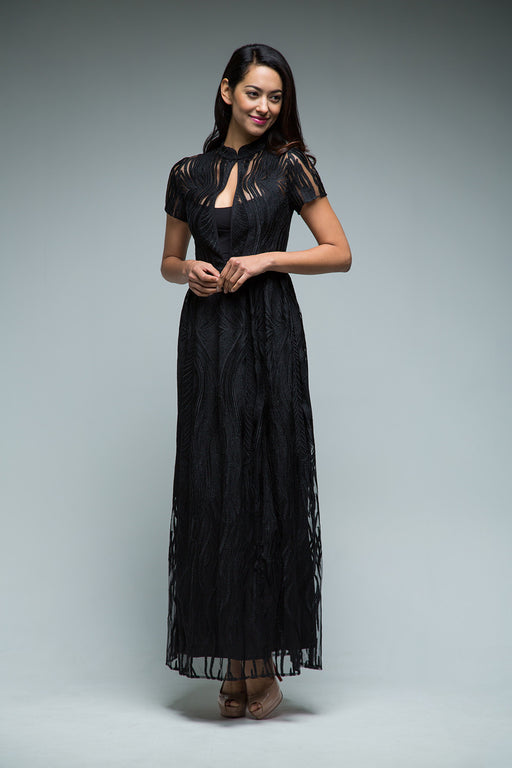 Lia Dress (Black) - SAU LEE