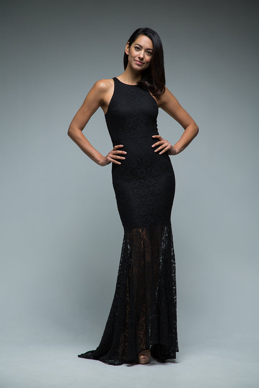 Sara Gown (Black) - SAU LEE