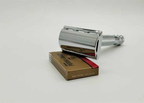 Rockwell 2C safety razor - white crome
