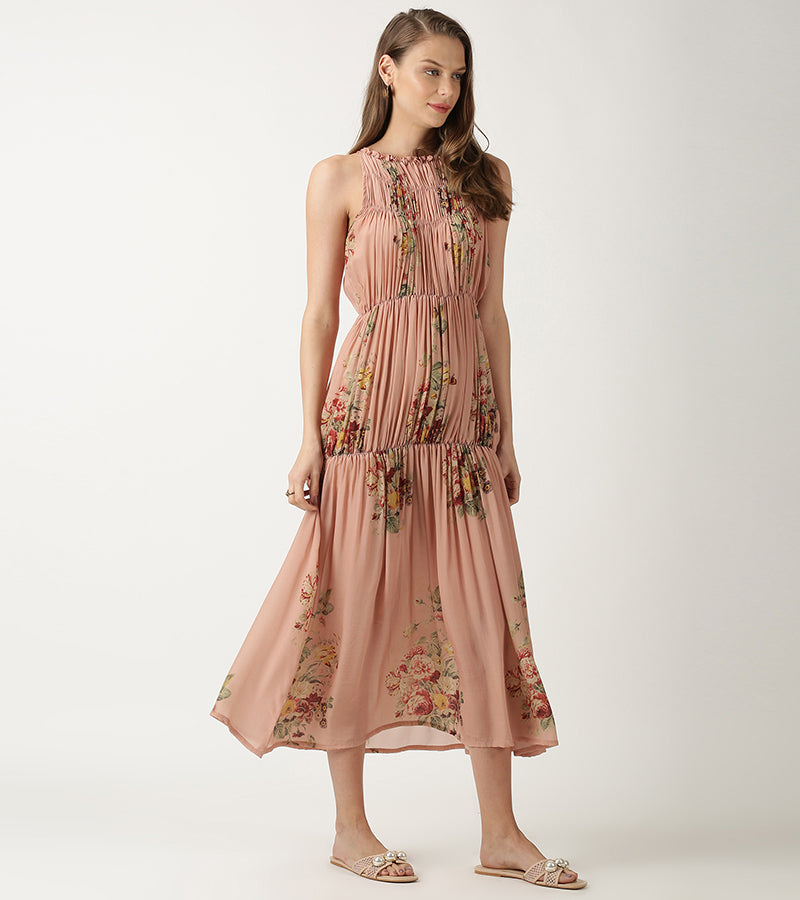 The Peach Rhoda Dress