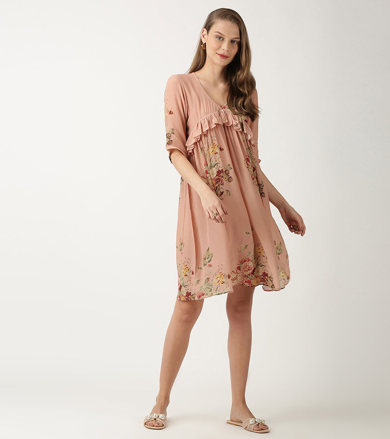 The Peach Aster Dress