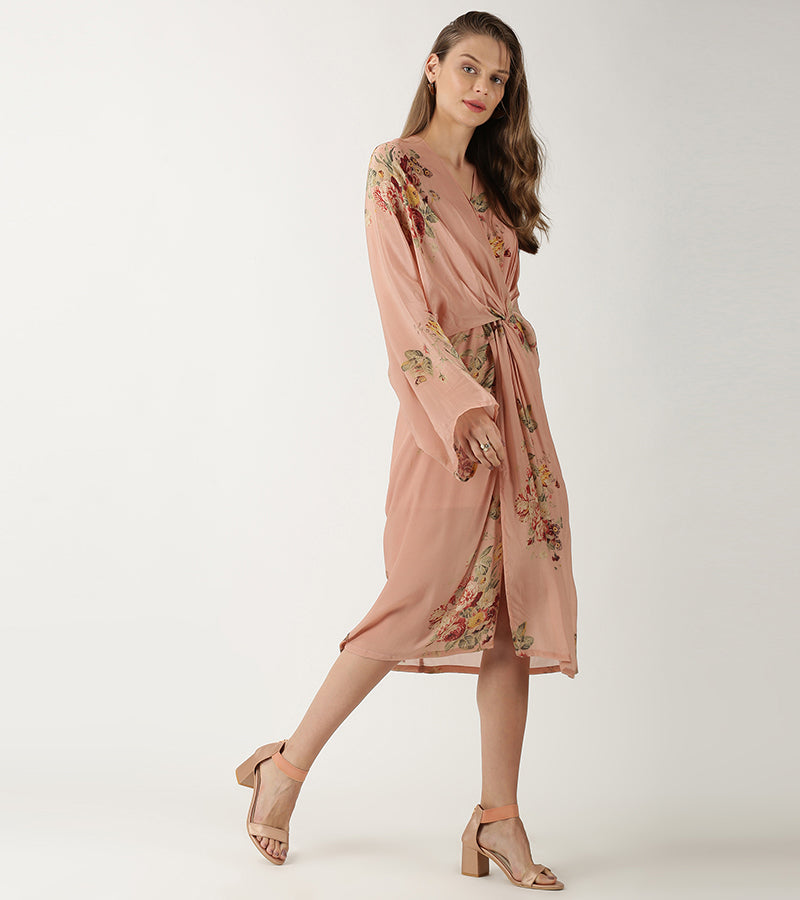 The Peach Byrony Dress