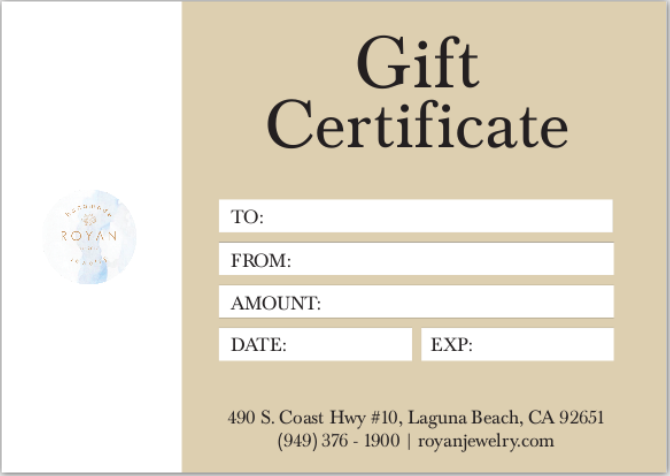 Gift Certificate - Physical Card