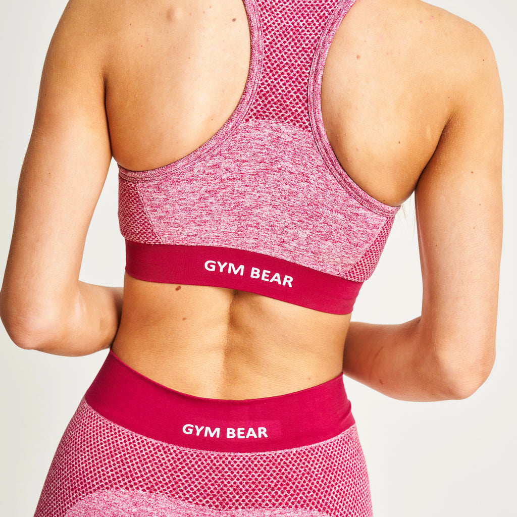 """Stay Powerful"" Burgundy Multi Sculpt Bra"