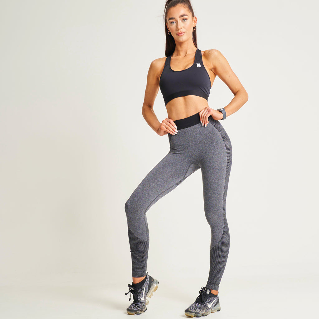 """Keep Pushing"" Black Multi Sculpt Leggings"