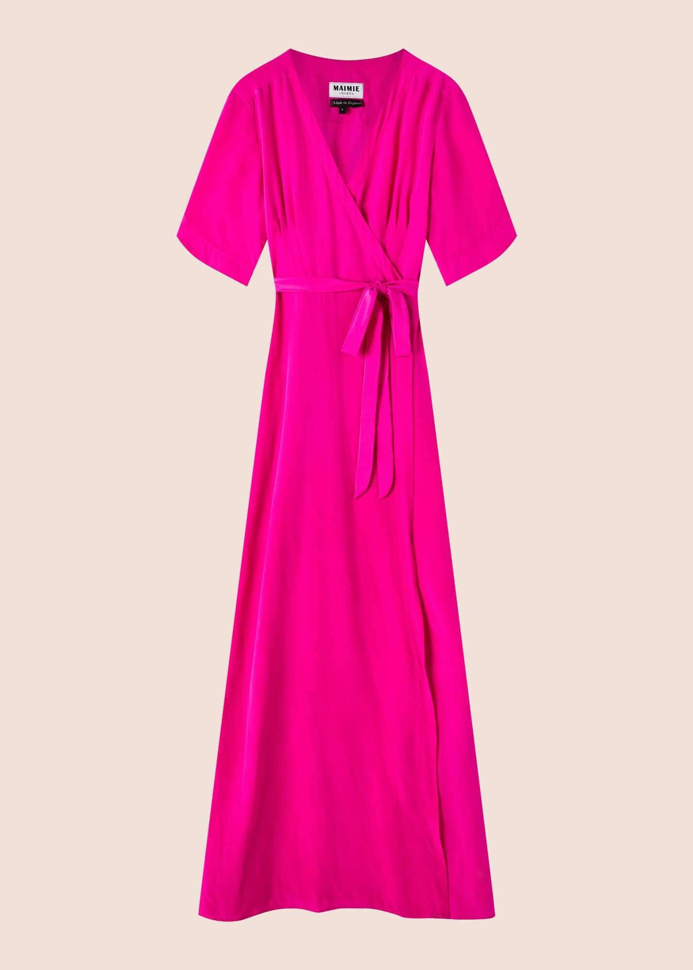 Esme Amaranth Silk Maxi Dress