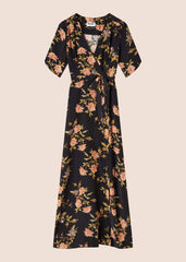 Esme Flora Silk Maxi Dress