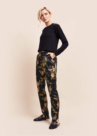 Estella Ebony Silk Trousers