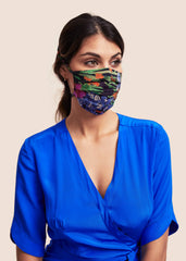 Silk Face Mask - Liberty London Dahlia