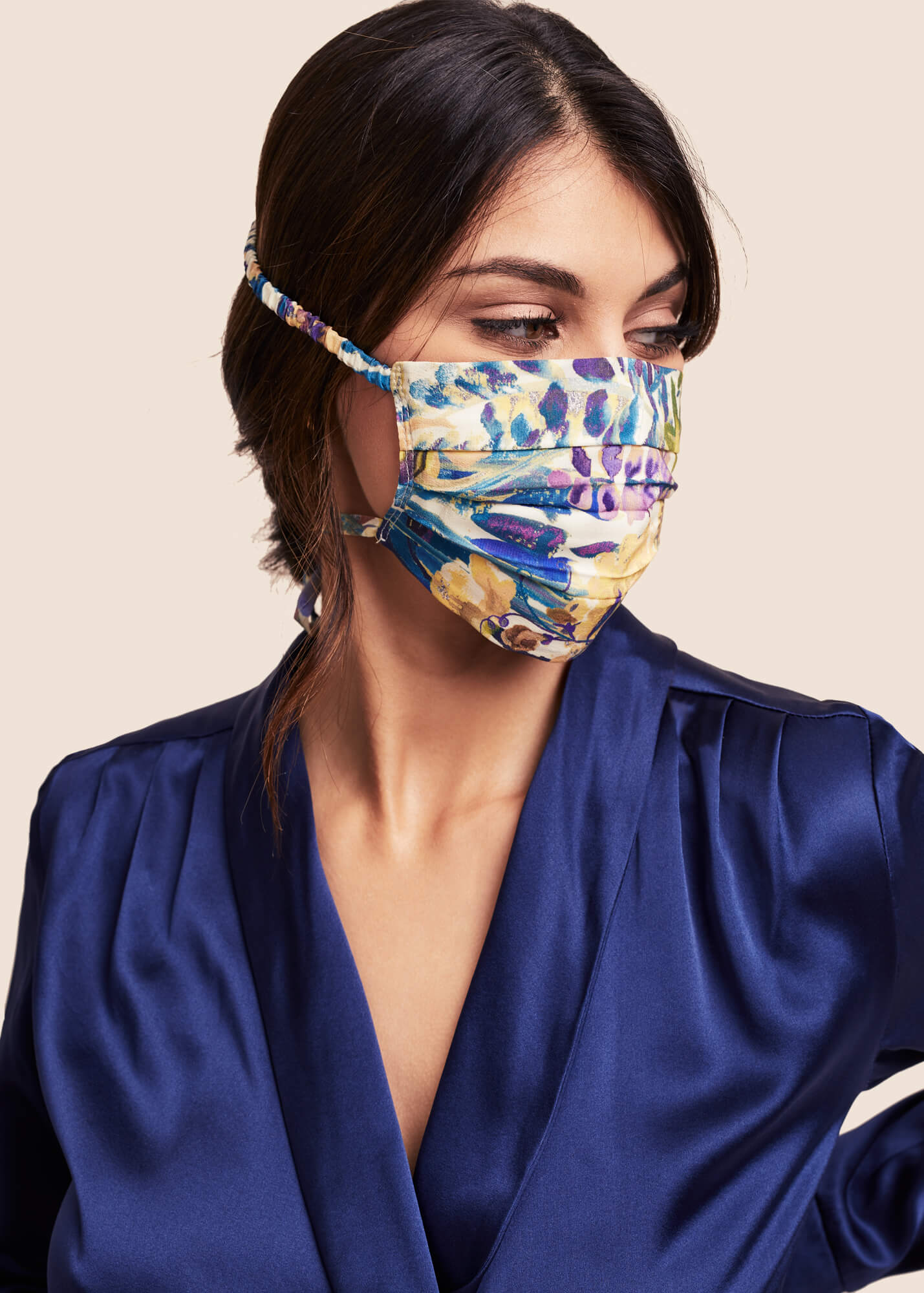 Silk Face Mask - Liberty London Daphne