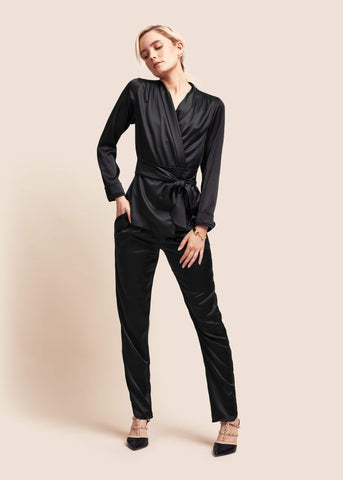 Roxy Ebony Silk Suit