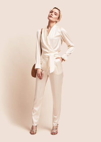 Estella Pearl Silk Trousers
