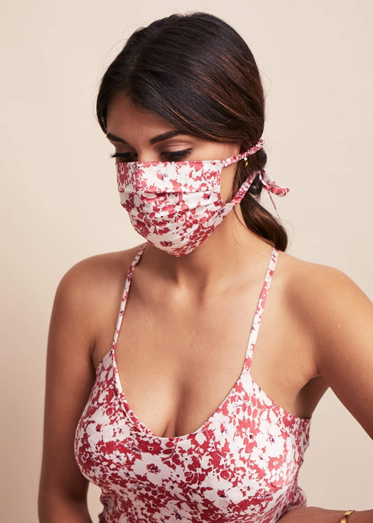 Silk Face Mask - Liberty London Rose