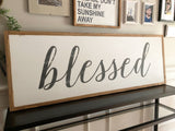 Blessed wood sign (XL)