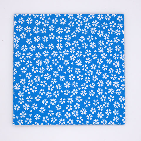 Washi Origami Paper with Blue Flower