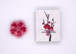 Cherry Blossom Ceramic Incense Holder
