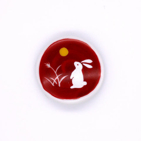 Rabbit and Moon Chopstick Rest