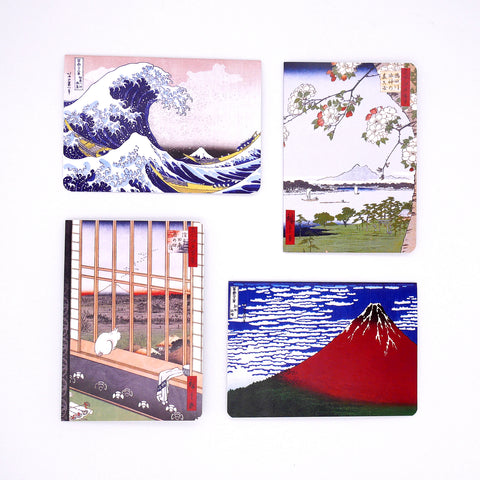 Japanese Famous Woodblock Landscapes Cards (Pack of 4) Online Exclusive