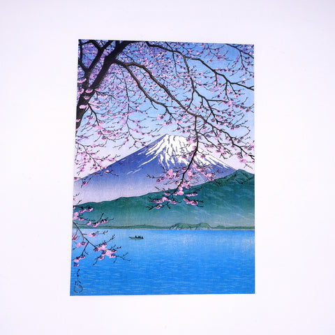 Mount Fuji in Springtime Art Print (A4)