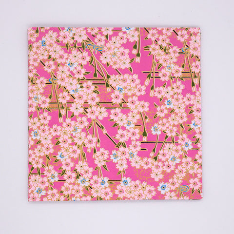 Washi Origami Paper with Pink Flowers