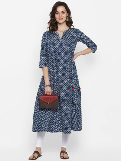 Blue Pure Cotton Kurta(J0094)