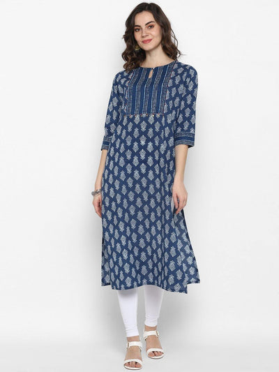 Blue Pure Cotton Kurta(J0096)