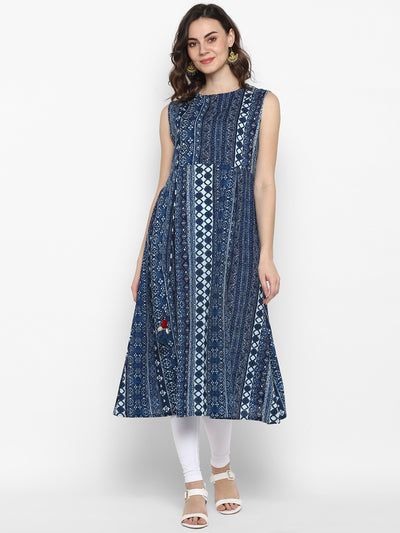 Indigo Pure Cotton Kurta(J0097)