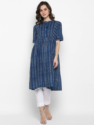 Indigo Pure Cotton Kurta(J0104)