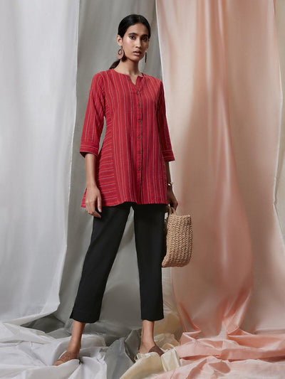 Red Weaved Cotton Top