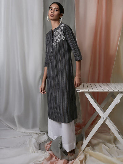 Black Kurta with Pocket