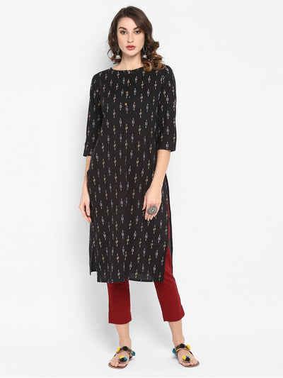 Black Pure Cotton Kurta